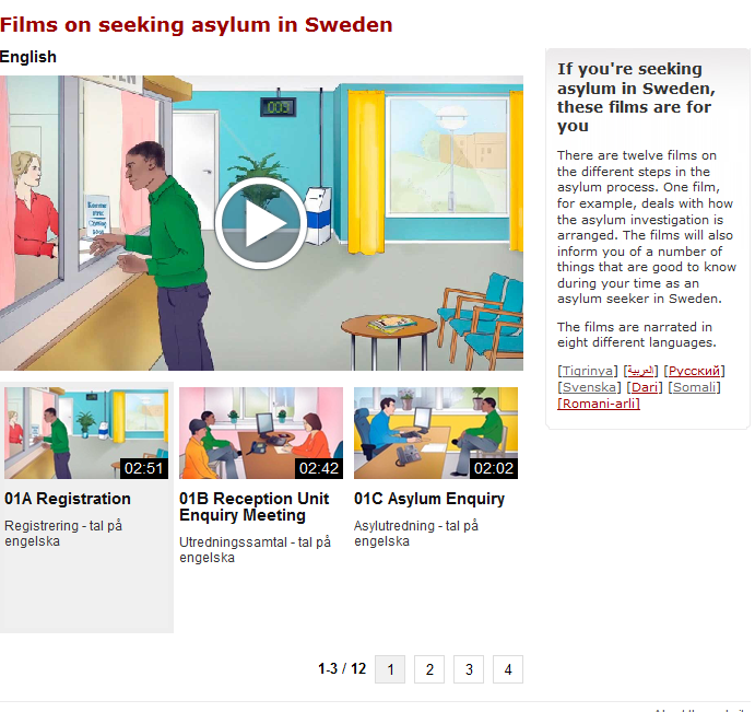 Films on seeking asylum in Sweden - eng