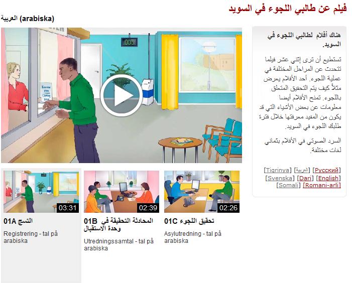 Ny i Sverige - arabiska